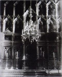 Иконостас храма до закрытия 1920г.